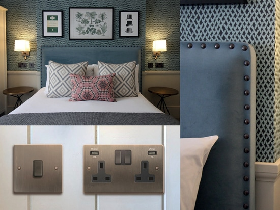 Hotel: Hamilton bietet passendes Etrium Bronze Verkabelungszubehör für Grade II gelistete Boutique Hotels