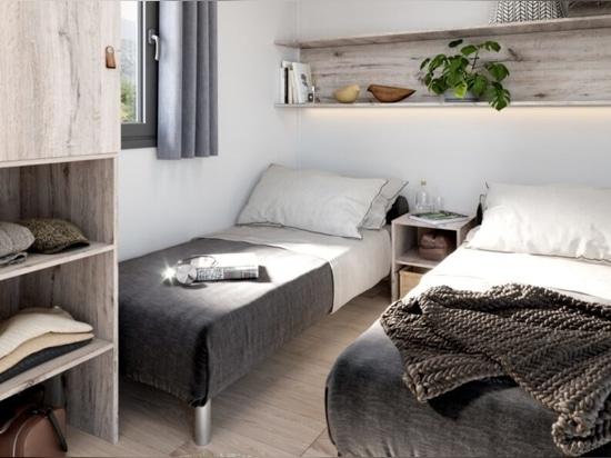 Modulares winziges Haus auf Rädern kann eine 6-köpfige Familie aufnehmen