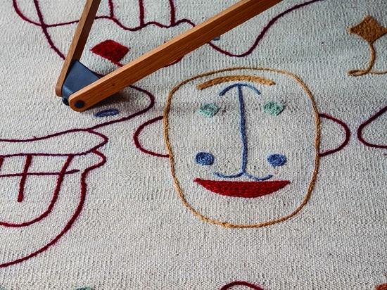 Scherenschnitt-Teppiche haben ein Auge auf Sie geworfen