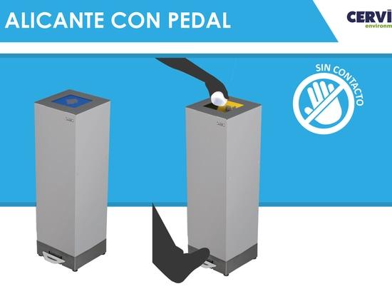 Alicante-Mülleimer mit Pedal