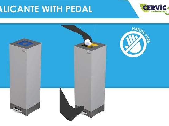 Alicante-Mülleimer mit Fußpedal