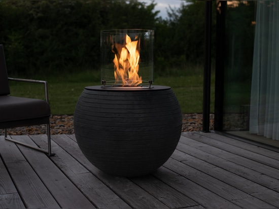 muenkel design Meda [Ethanol Feuerstelle für den Außenbereich]