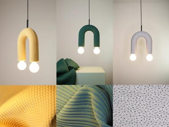 DUO-Beleuchtungssammlung. Von links nach rechts: Mosaik, Schale, Sprenkel.