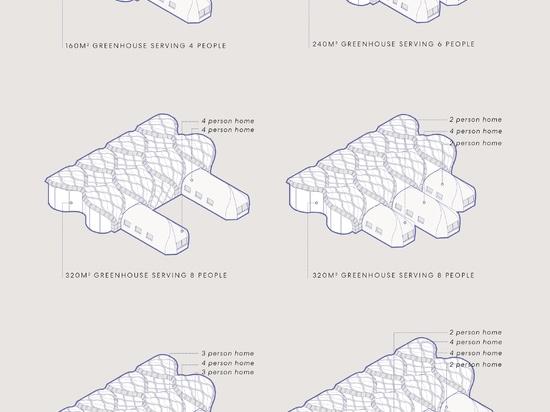 Eliza Hague entwirft aufblasbare, origami-ähnliche Gewächshäuser aus Bambus und Schellack