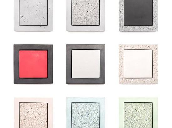 Sekhina fertigt Schalter + Steckdosen aus Beton in Handarbeit als nachhaltige Alternative zu Kunststoff