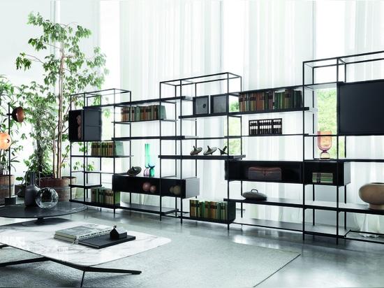 Schlichtes Bücherregal, Entwurf von Francesco Rota