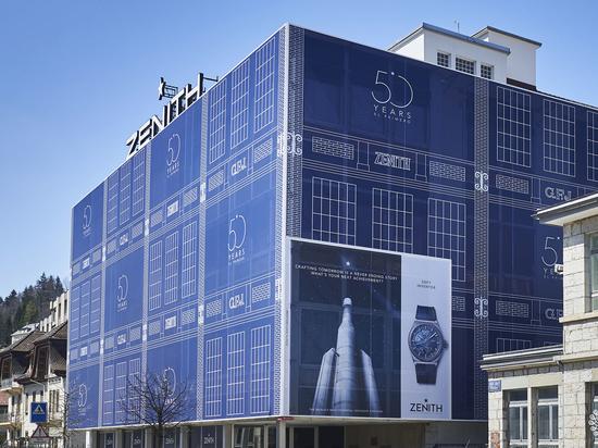 Zénith forderte LightAir auf, seine Fassade zu verkleiden (2019). Mit freundlicher Genehmigung von LightAir.