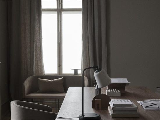 Covent Chair, Esstisch Florence und Material Tischleuchte