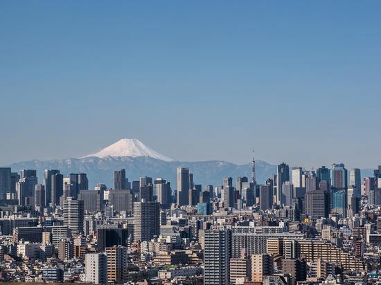 Tokio Stadtansicht , Tokyo Downtown Gebäude und Tokyo Turm Wahrzeichen mit Berg Fuji an einem klaren Tag. Tokio Metropole ist die Hauptstadt von Japan und einer seiner 47 Präfekturen.