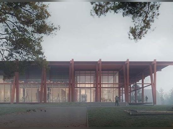 Aleksander Wadas stellt Vorschlag für Nationales Holzfällermuseum & Kompetenzzentrum für Feuchtgebiete in Norwegen vor