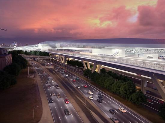 indem sie vorhandene Parkenstrukturen entfernten, waren Entwerfer in der Lage, Terminalgröße und Rollbahnen zu erhöhen