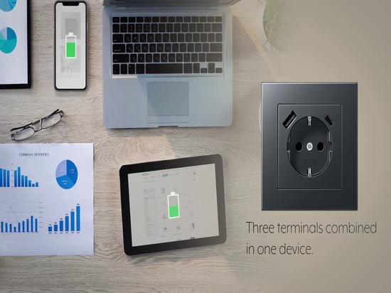Volle Leistung - JUNG SCHUKO® Steckdosen mit USB