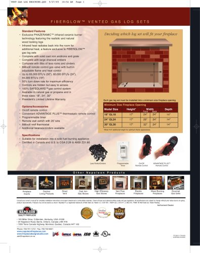 Vented Gas Log Brochure