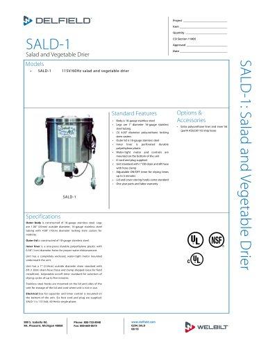 SALD-1 Salad and Vegetable Drier