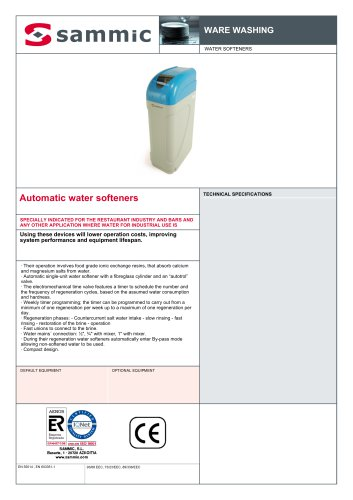 Automatic water softeners
