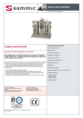 Coffee machine B-20