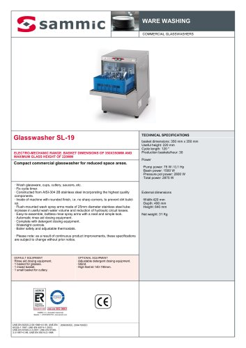 Glasswasher SL-19