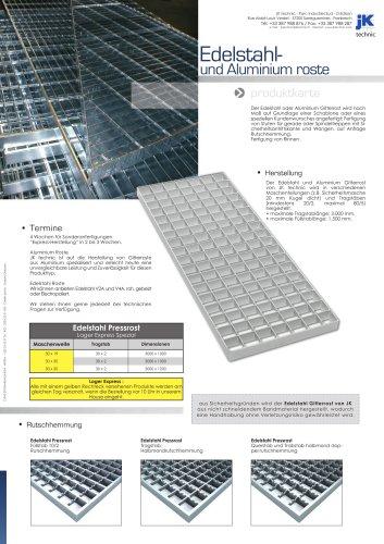 Edelstahl- und Aluminium Gitterroste