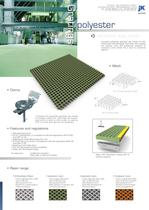 Polyester gratings