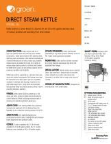 Direct Steam Kettle - Model DL