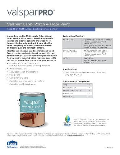 VALSPAR® LATEX PORCH & FLOOR