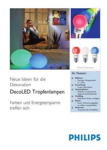 DecoLED Tropfenlampen