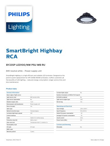 SmartBright HighbayRCA