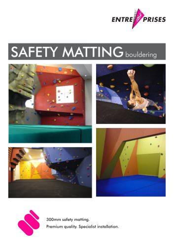 SAFETY MATTING bouldering