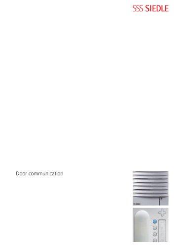 Door communication 2008