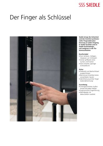 Siedle Fingerprint - Der Finger als Schlüssel (Flugblatt)