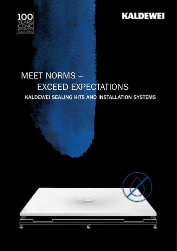 KALDEWEI SEALING KITS AND INSTALLATION SYSTEMS