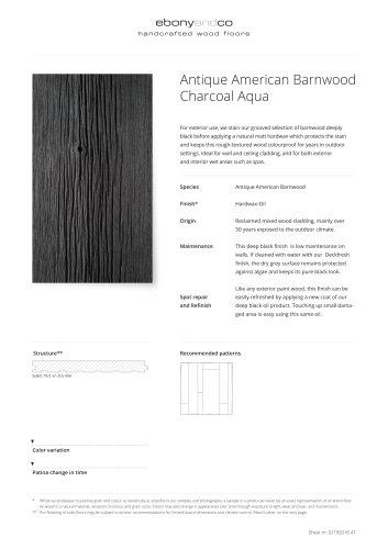 Antique American Barnwood Charcoal Aqua