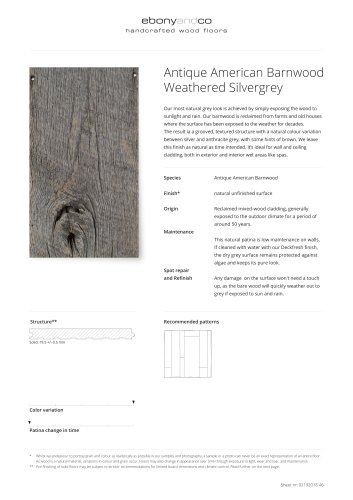 Antique American Barnwood Weathered Silvergrey