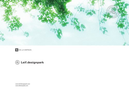 Leif.designpark overview