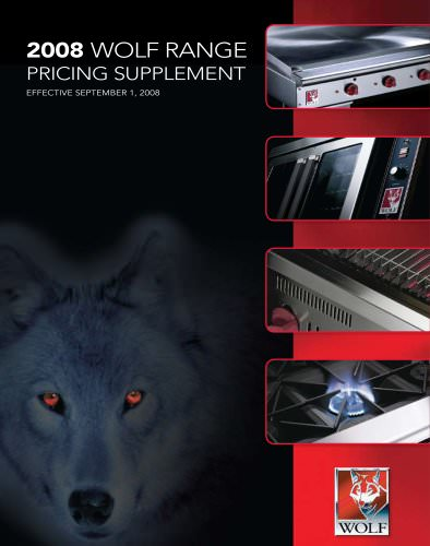 2008 Wolf Range Pricing supplement