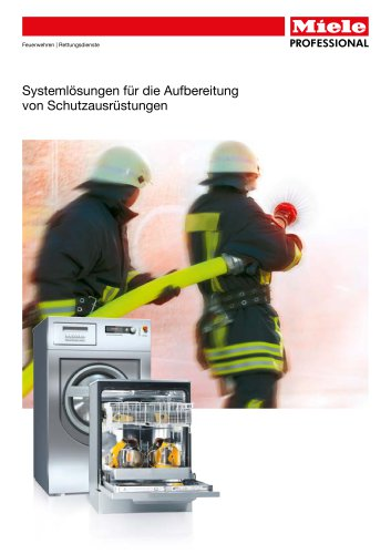 Aufbereitung von Schutzausrüstung für Rettungsdienste
