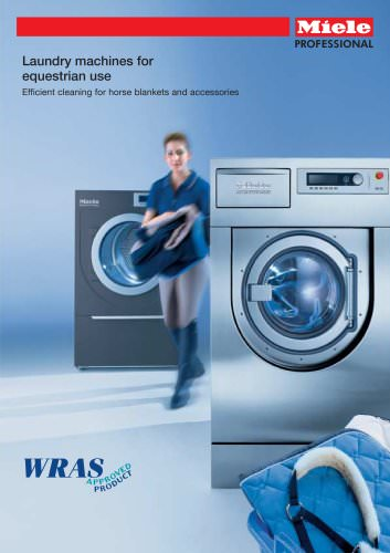Laundry machines for equestrian use