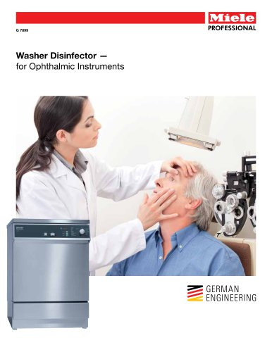 Medical  Washer - Ophthalmic Instruments G 7899