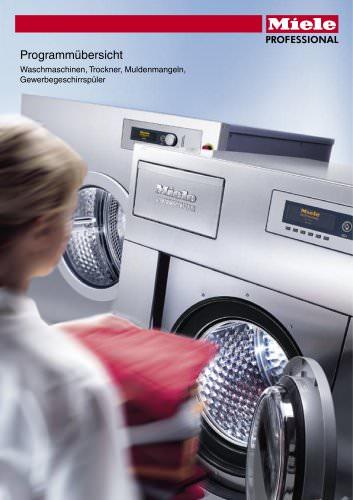 Programmübersicht Waschmaschinen, Trockner, Muldenmangeln, Gewerbegeschirrspüler