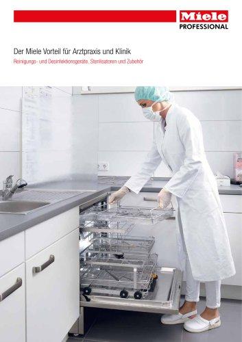 Reinigungs- und Desinfektionsgeräte, Sterilisatoren und Zubehör für Arztpraxen und Kliniken