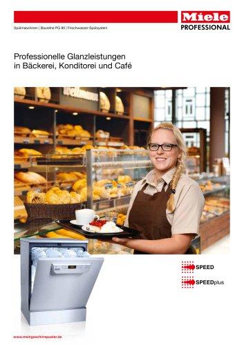 Spülmaschinen für Bäckerei, Konditorei & Café