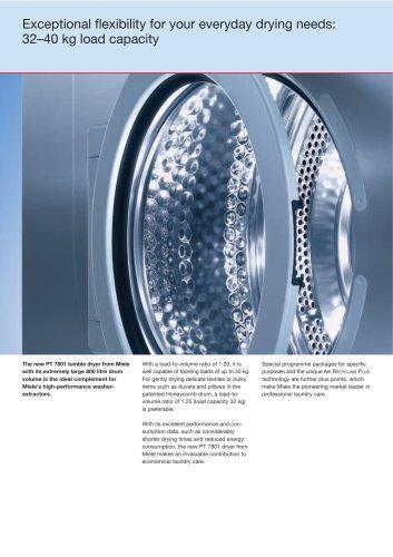 The new PT 7801 tumble dryer