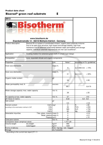 Bisoroof® green roof substrate E