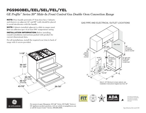 PGS960BEL/EEL/SEL/FEL/YEL