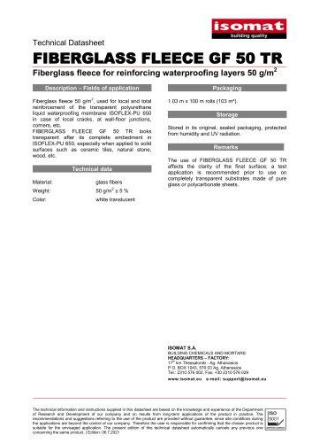 FIBERGLASS FLEECE GF 50 TR