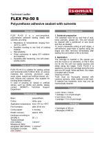 Technical Datasheet FLEX PU-50 S