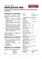 Technical Datasheet ISOFLEX-PU 600