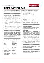 Technical Datasheet TOPCOAT-PU 740