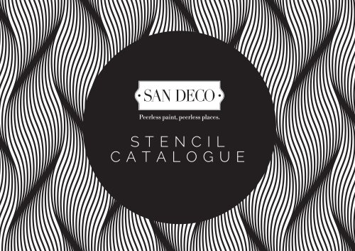 SAN DECO STENCIL CATALOGUE