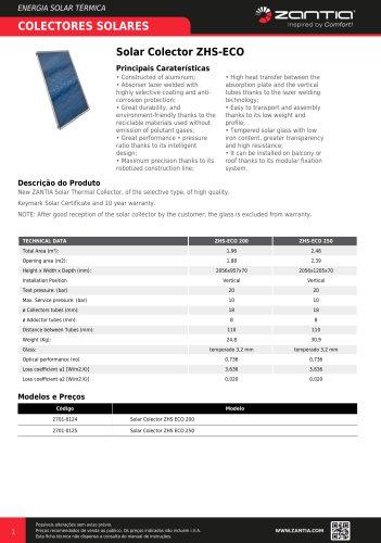 Solar Colector ZHS-ECO